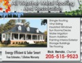 All Weather Metal Roofing